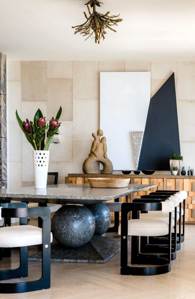 Kelly Wearstler Malibu dining room