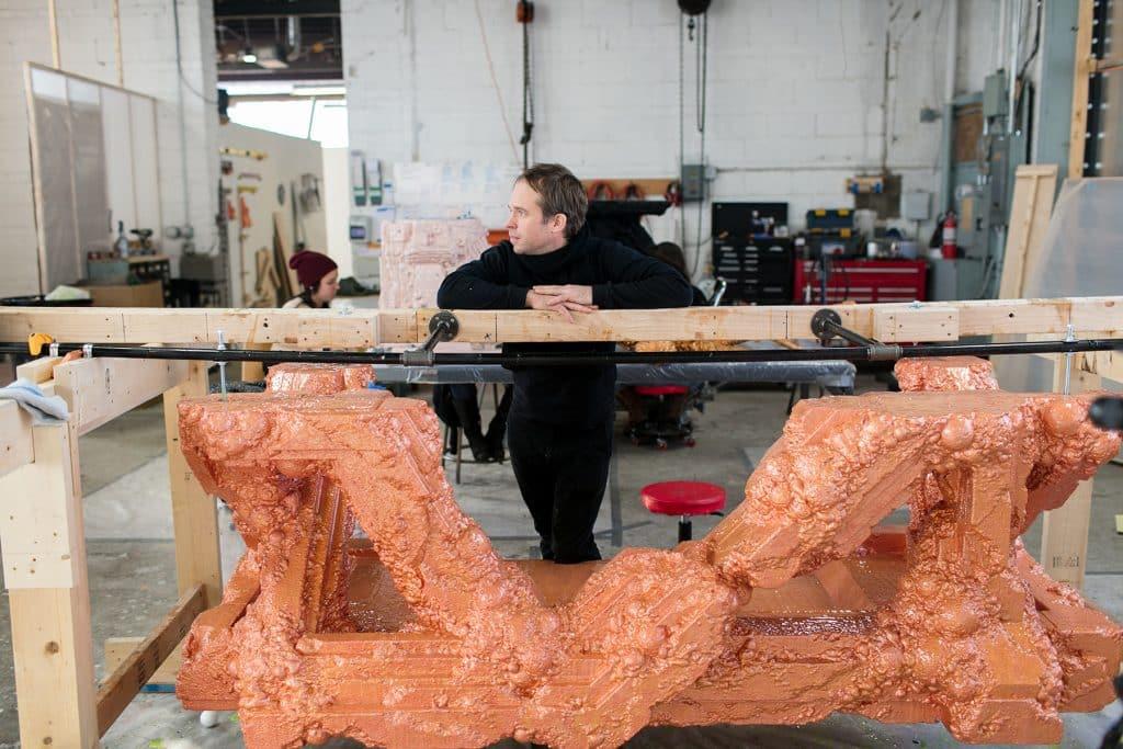 Chris Schanck in his Detroit studio