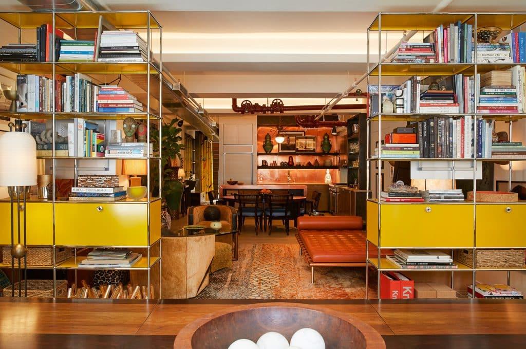 Interior designer Drew McGukin New York loft living room dining room kitchen office