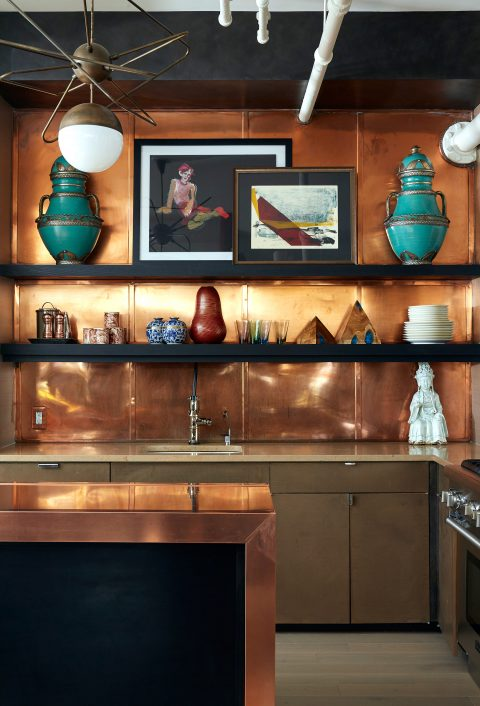 Interior designer Drew McGukin New York loft kitchen