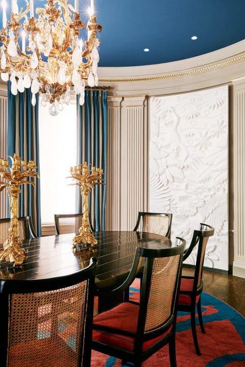 Dining room of the Upper East Side residence, by Hugh Leslie