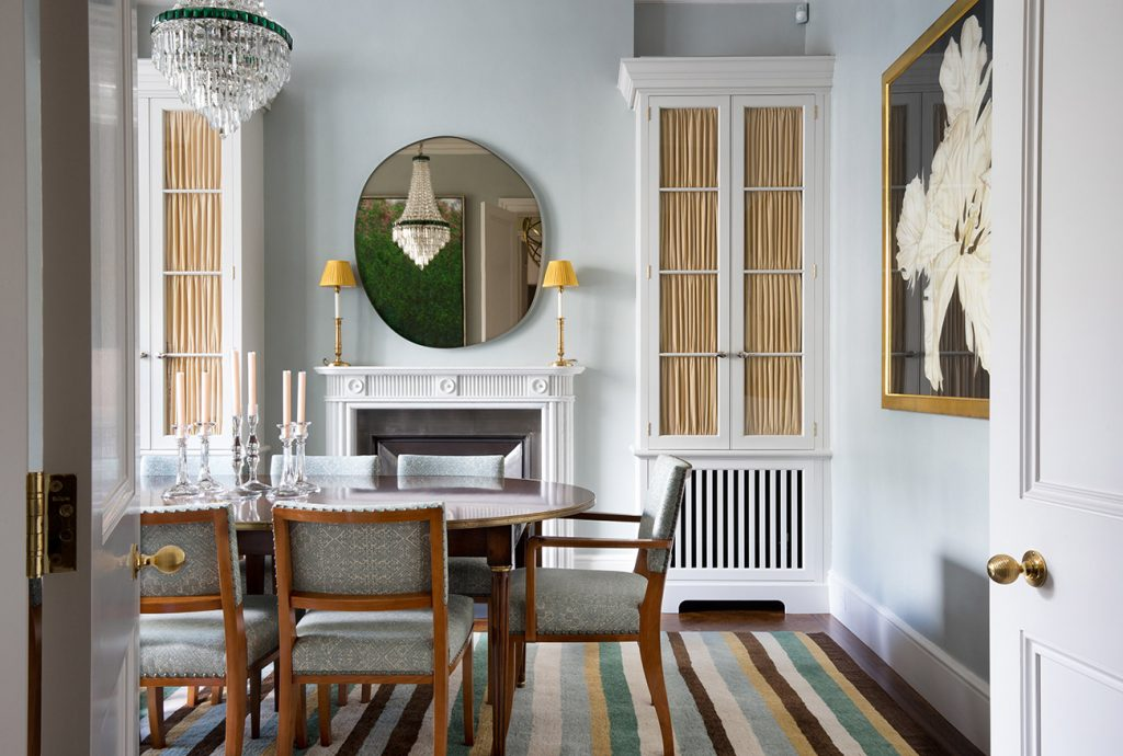 The dining room of a residence in Notting Hill, from Hugh Leslie