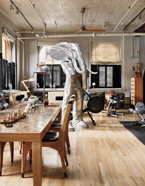 Anthony Iannacci New York Design at Home Abrams Bill Sofield Soho loft dining room