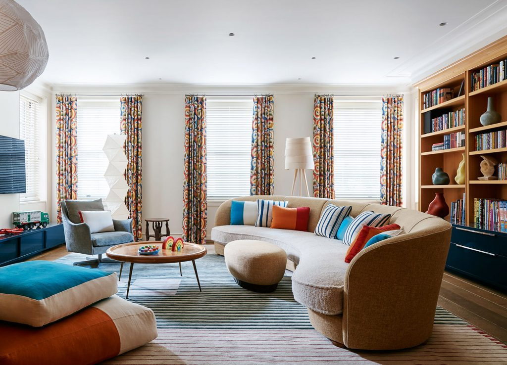 The sitting room of the Upper East Side residence, from Hugh Leslie