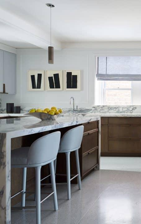 Sawyer Berson Interiors Kitchen Island