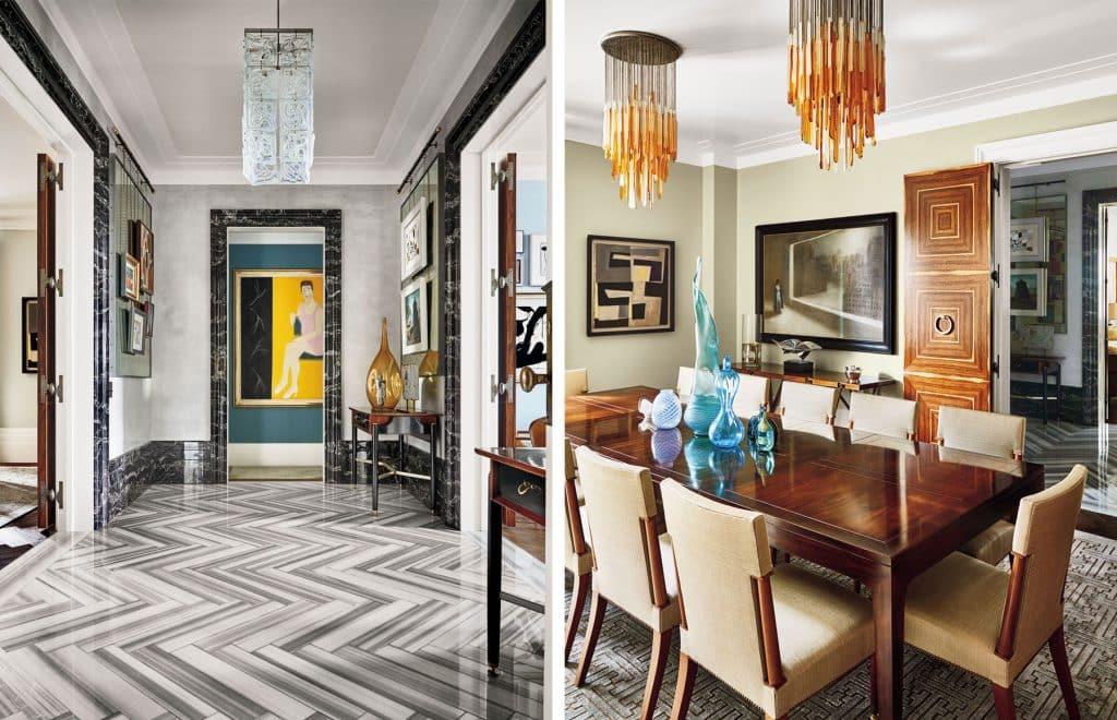 Anthony Iannacci New York Design at Home Abrams Ellen Hanson Fifth Avenue apartment foyer dining room