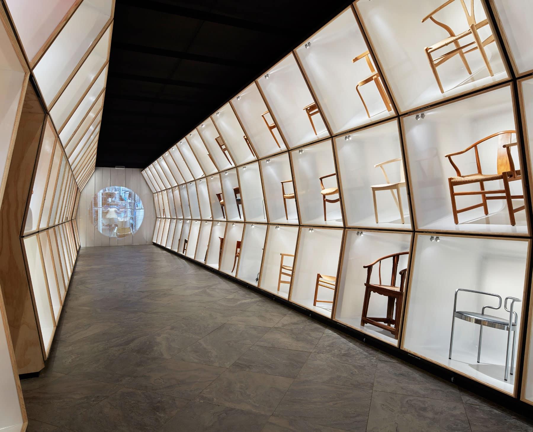 Designmuseum Danmark chairs exhibit