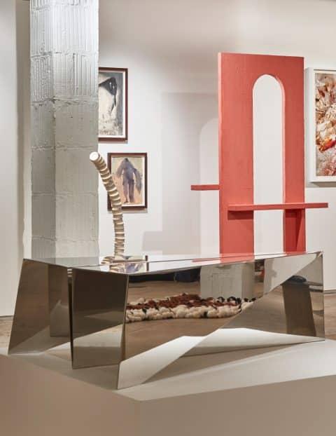Iqar Metal Table by Karen Chekerdjian, 2013