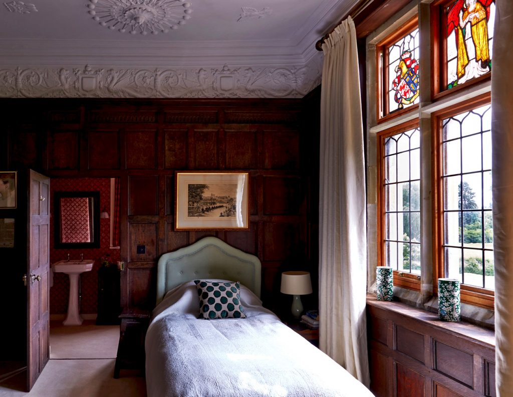 One of 18 Bedrooms at Madresfield Court