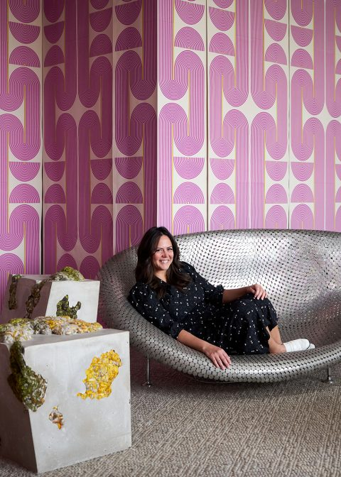 Interior designer Elena Frampton at Exhibition, her Hamptons gallery space.
