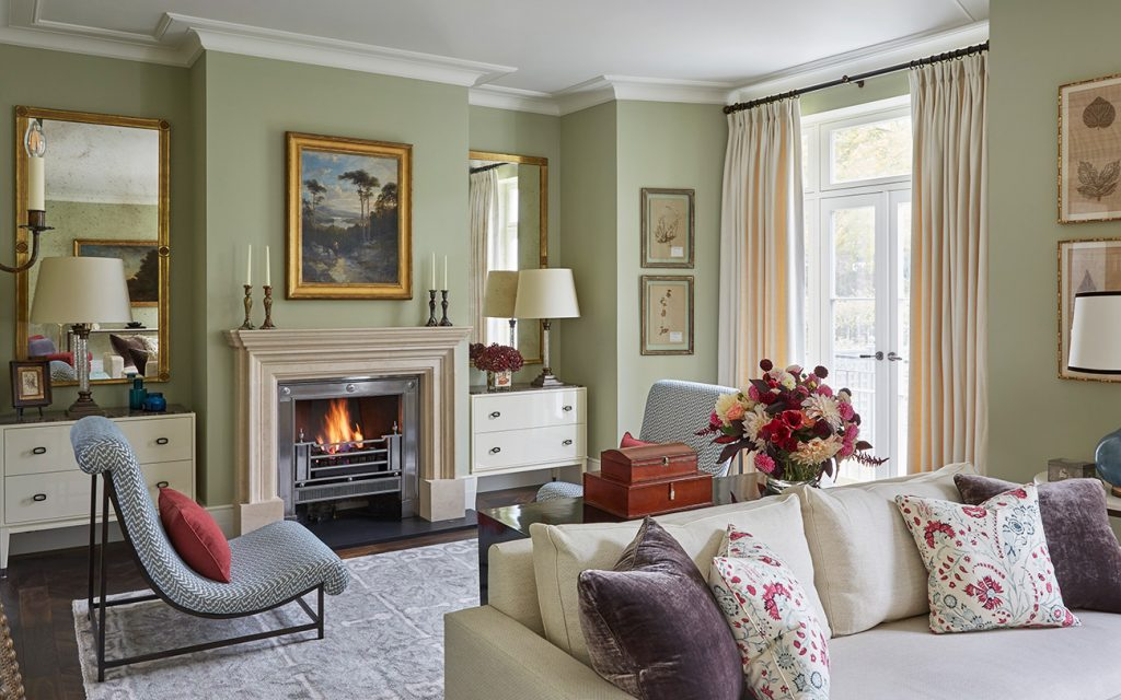 Living Room at a Notting Hill Rental Designed by Todhunter Earle