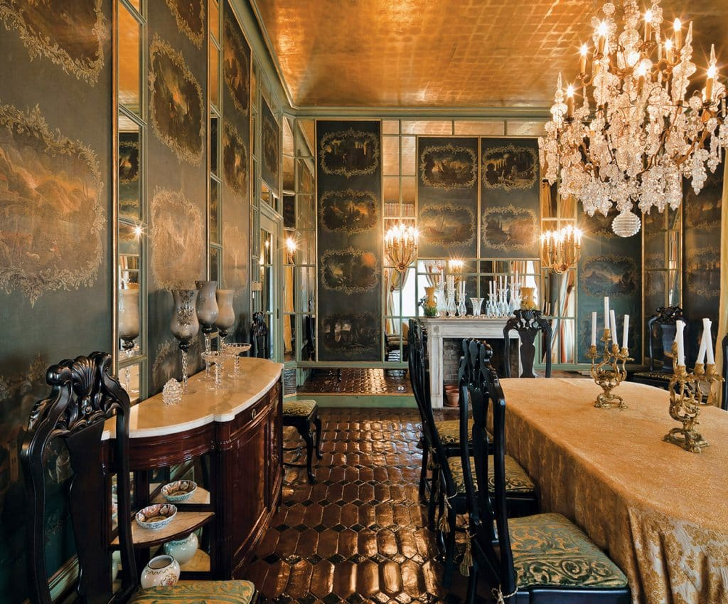 Dining Room of Lagomar, Designed by Mizner