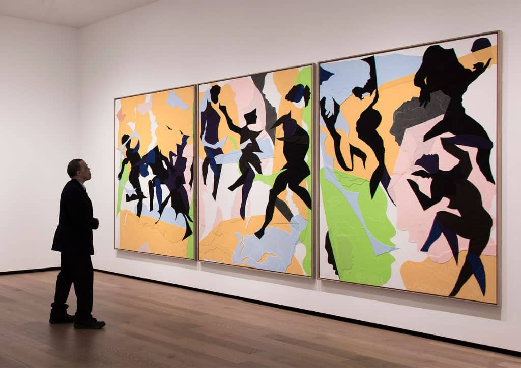 Oliver Lee Jackson Recent Paintings National Gallery of Art Washington DC Triptych (3.20.15, 5.21.15, 6.8.15) 2015