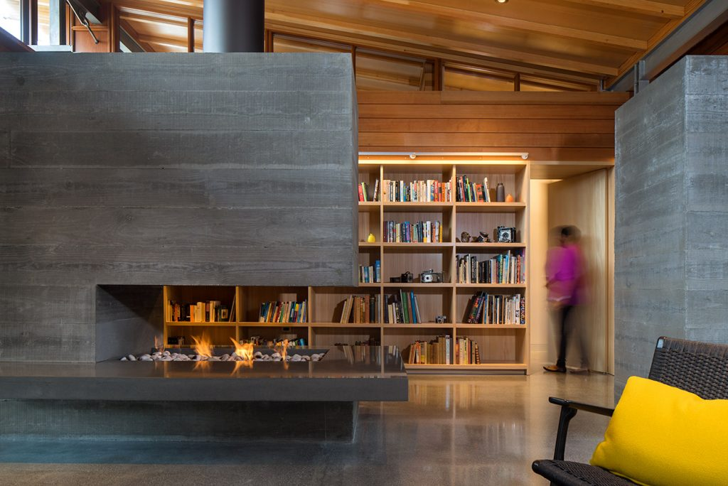 Fireplace at the Los Altos residence