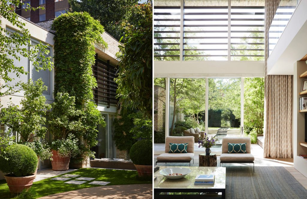 Exterior and Living Room of a Battersea Residence, Designed by Todhunter Earle