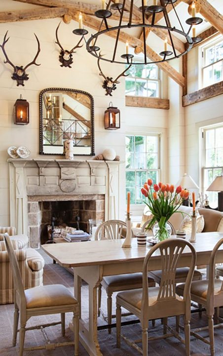 Charlotte Barnes Interiors Federal-Style Living and Dining Rooms