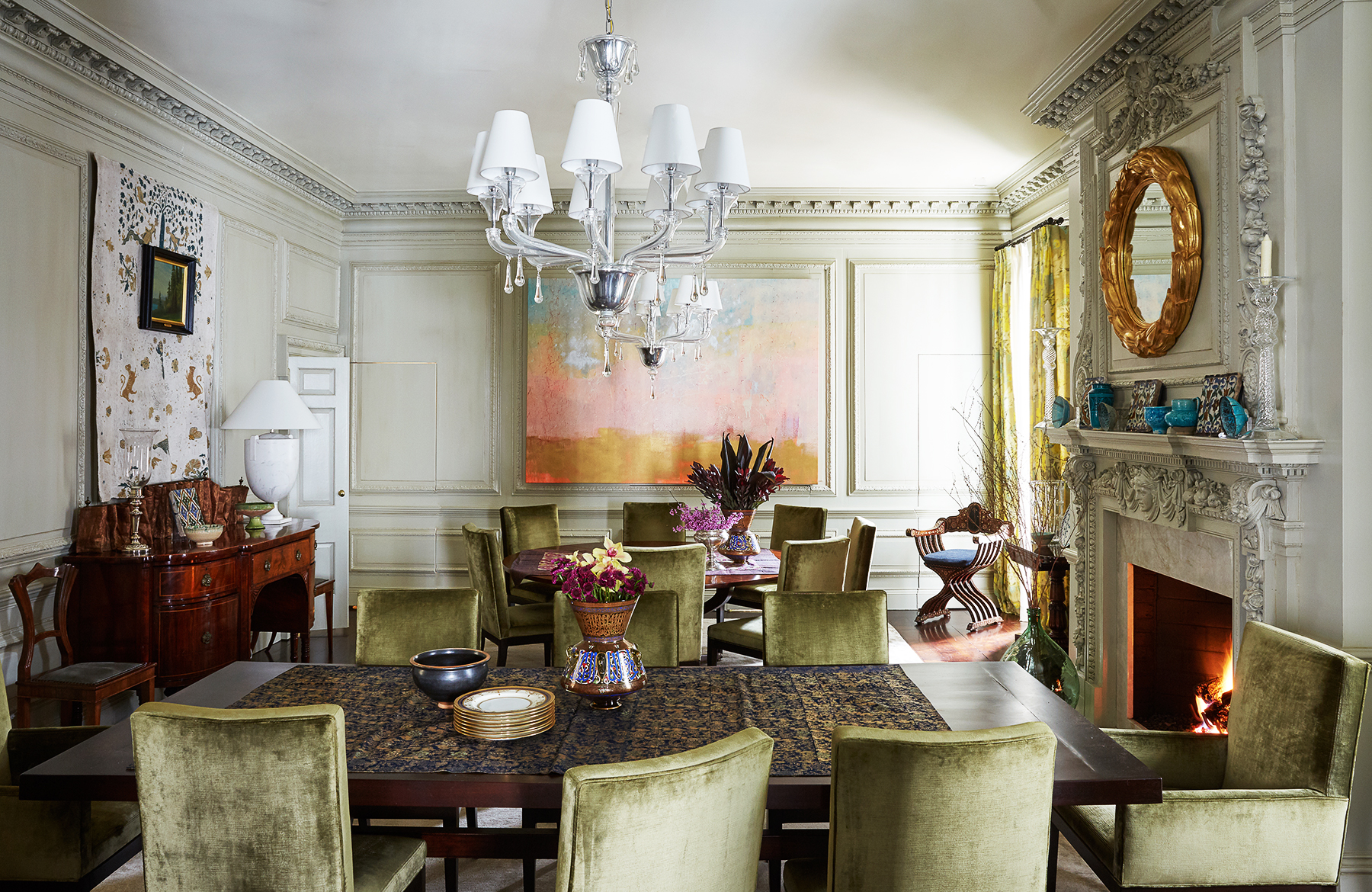 Dining Room at a Washington D.C. Residence Designed by Mona Hajj