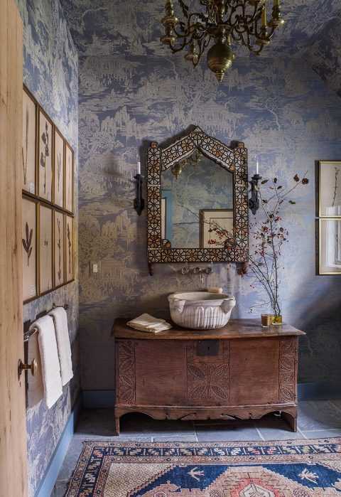 Powder Room of a Baltimore Residence designed by Mona Hajj