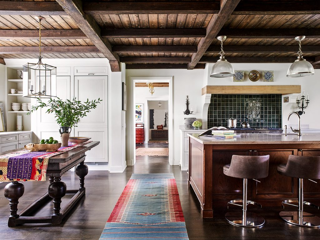Kitchen in a Baltimore residence designed by Mona Hajj