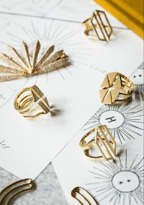 Karma El Khalil gold rings