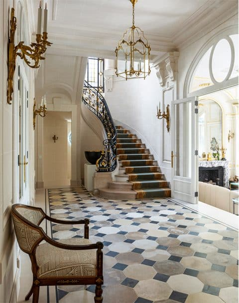 The entryway of the Paris Mansion renovated by Bryan O'Sullivan