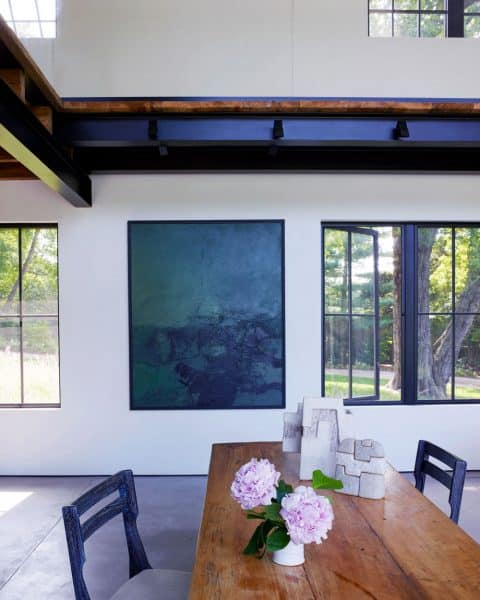 The dining room in Michael Del Piero's Amagansett, New York, home