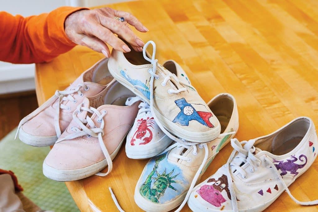 Barbara Bush's Custom Designed Keds