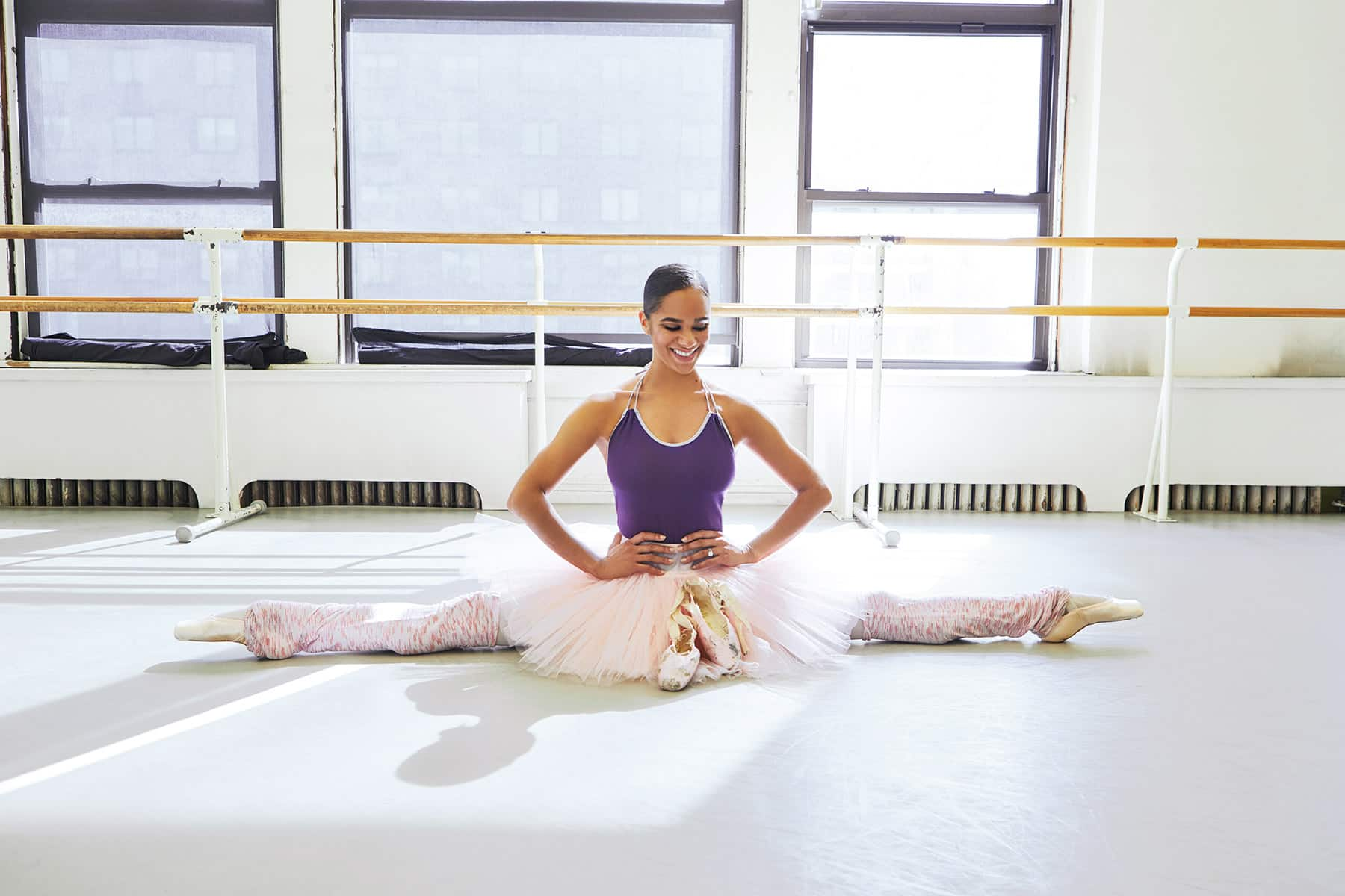 Ballerina Misty Copleland and her first pair of Pointe Shoes