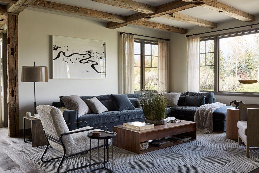 WRJ Design Associates Jackson Hole Wyoming Rush Jenkins Klaus Baer sitting room Natural Elegance