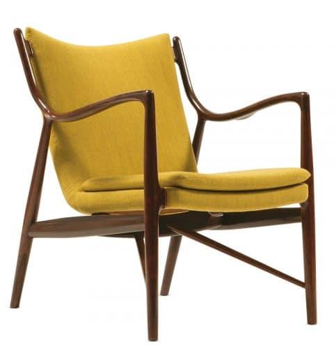 Finn Juhl's 45 chair in yellow