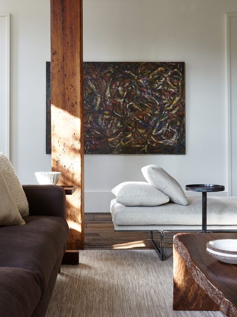 Detail of the Tribeca living room, designed by Marie-Christine McNally