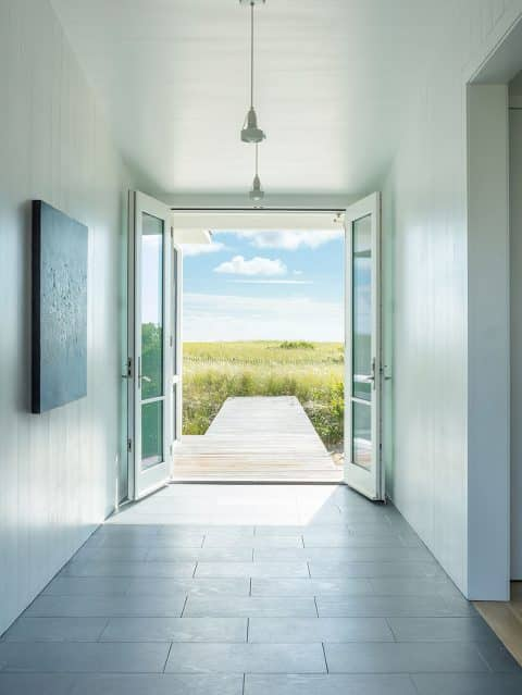 Jim Estes Peter Twombly Estes Twombly architects Chatham Cape Cod Massachusetts beach house entry