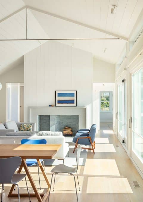 Jim Estes Peter Twombly Estes Twombly architects Chatham Cape Cod Massachusetts beach house living room dining room