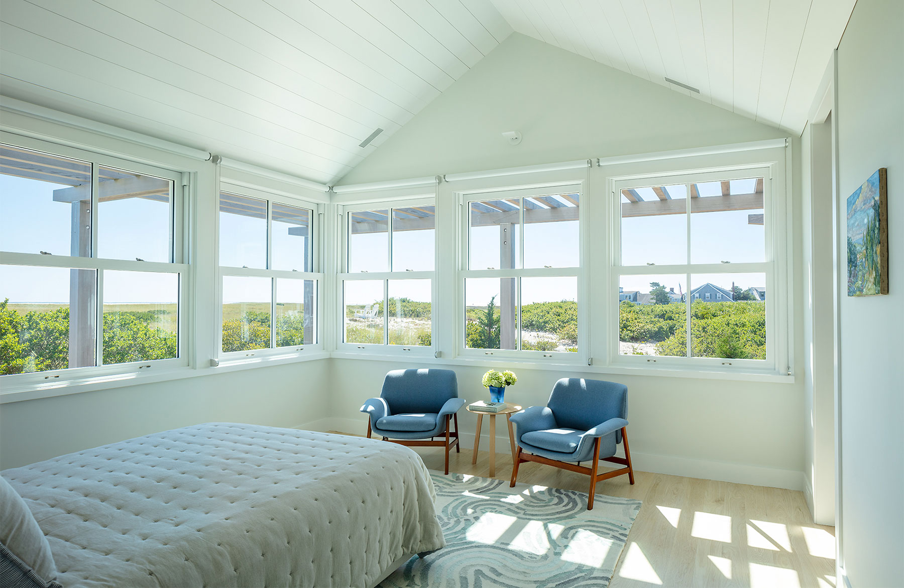 Jim Estes Peter Twombly Estes Twombly architects Chatham Cape Cod Massachusetts beach house bedroom