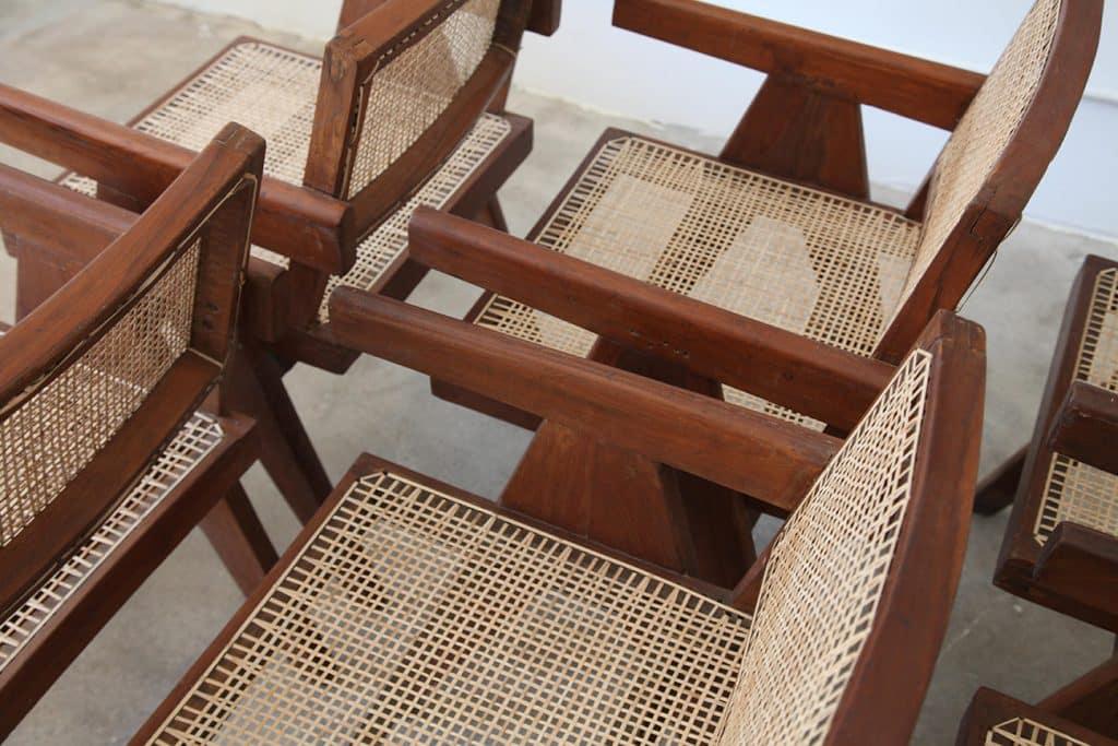 Pierre Jeanneret V-leg armchairs