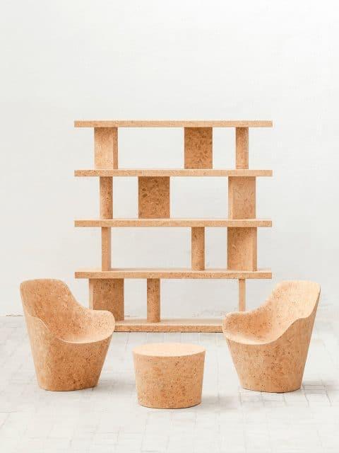 Jasper Morrison cork furniture Kasmin Gallery