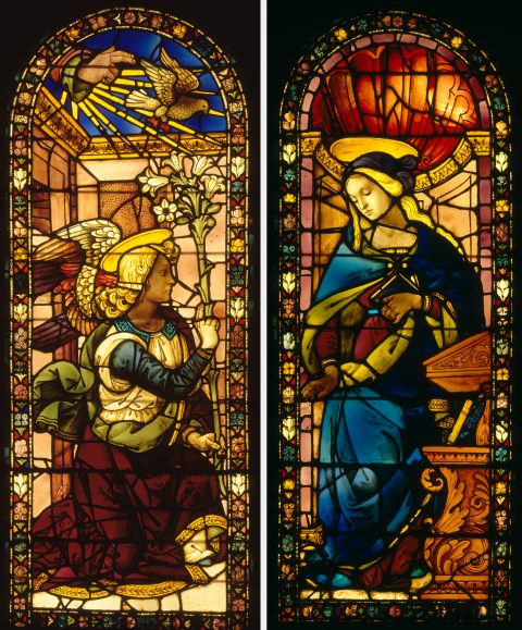 Florence stained glass church windows Giovanni di Domenico Angel of the Annunciation Virgin Annunciate Duveen Brothers and the Market for Decorative Arts Charlotte Vignon